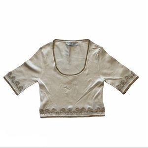 KAREN MILLEN short sleeve knit top St. 800SKULFIF